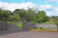 The entrance to Sheen Falls Lodge