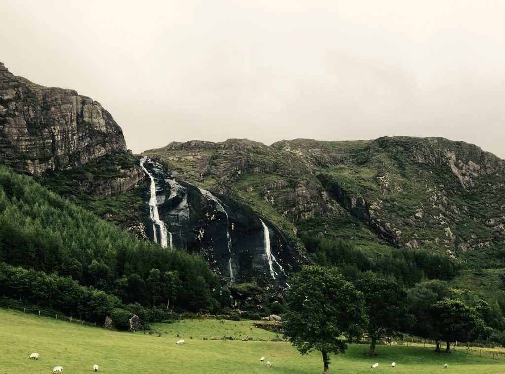 Gleninchiquin Waterfall on the route for Quest Adventure Series Kenmare 2018