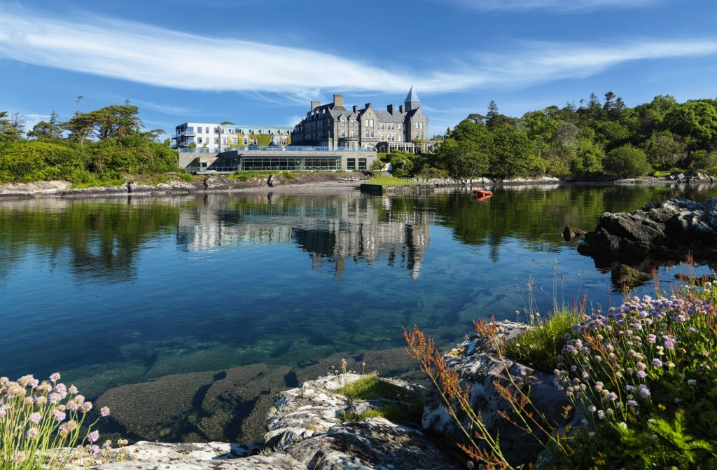 Wedding Venues Ireland - Parknasilla Hotel seen from the shore