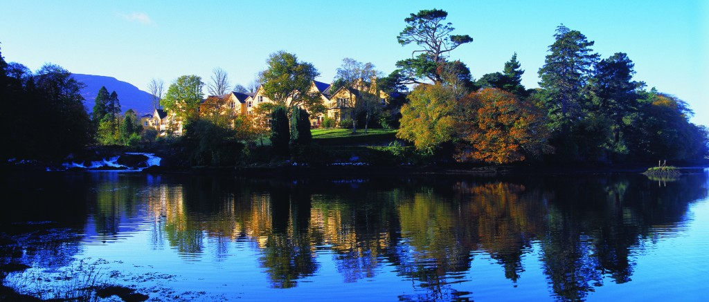 Wedding Venues in Ireland - View of Sheen Falls Lodge Wedding Venue from the Water