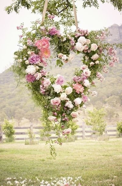 wedding venues Ireland - DIY wedding heart flower