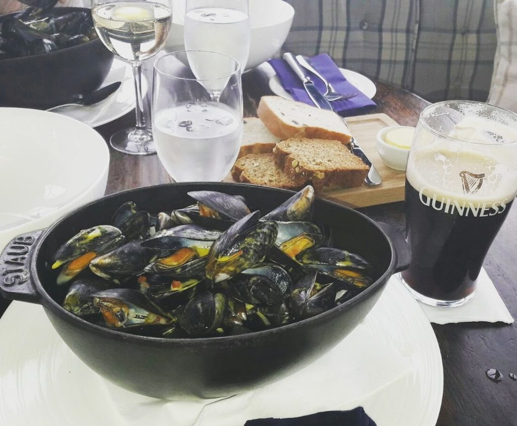 Mussles and Guinness on the Wild Atlantic Way