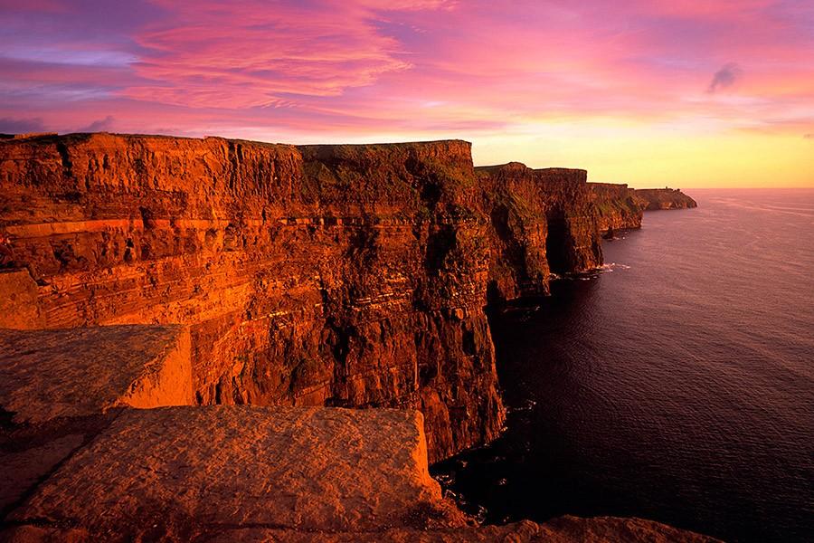 Cliffs- sunset